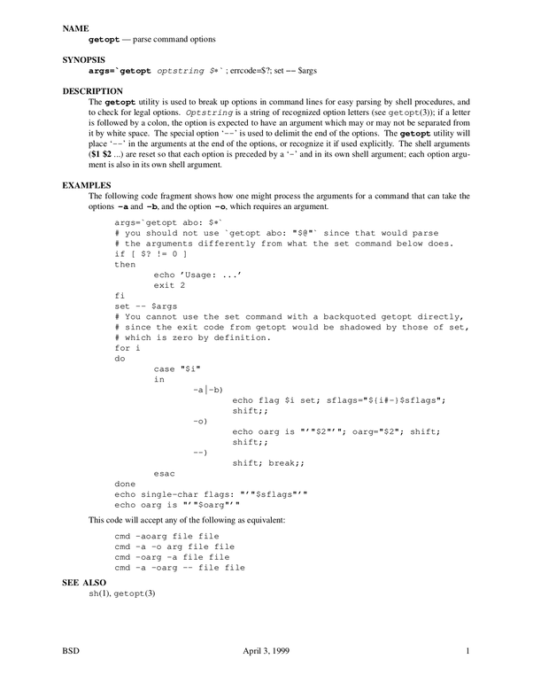 Try These Bash Read Command Line Arguments Getopts {Mahindra