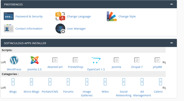 How to use cPanel to create or maintain a website - Quora