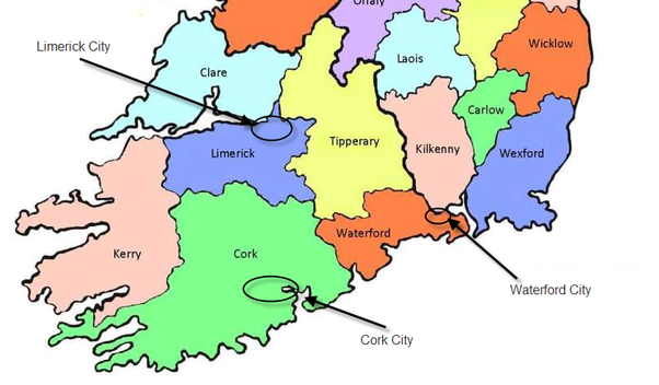 Where is cork ireland located in a map what are the cities that where is cork ireland located in a map what are the cities that border it gumiabroncs Image collections
