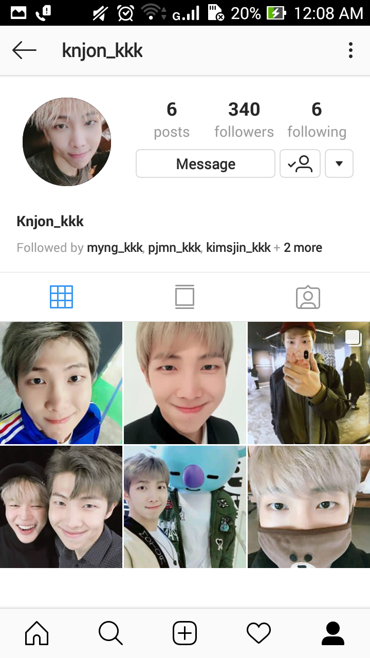 What are each of the official Instagram accounts of BTS
