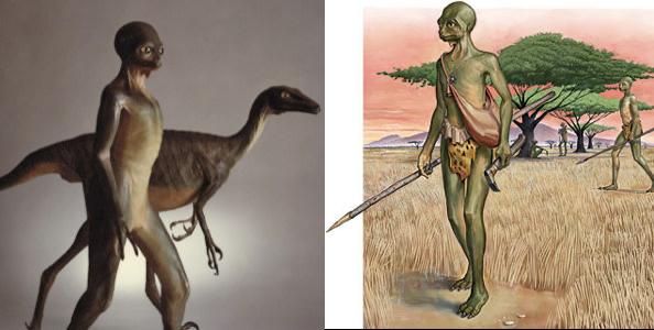 哺乳類ではなく恐竜が進化して人間になったとして (俗に言うディノサウ ...