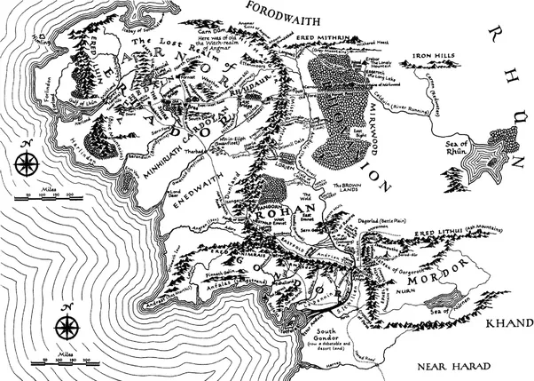 Why were some places like utumno and withered heath never put on any its in the far north you see the letters forodwaith just below that is ered mithrin go to the east from there and youll see withered heath publicscrutiny Choice Image
