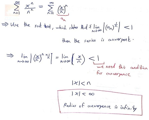 What Should Be The Radius Of Convergence Of The Series X N