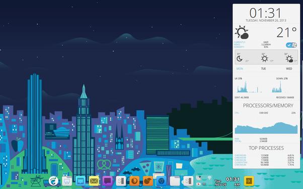 OS Arch Linux DE Xfce4 Compositor Compton Github Darnir Dotfil Dock AWN Conky EOS Zagortenay333deviantart