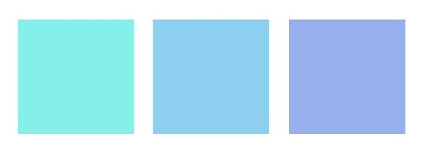 It Would Go Well With Colours Of A Rather Similar Hue As Shown Below Baby Blue In The Middle