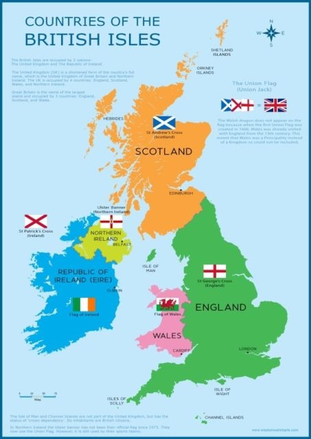 Map Of England And Britain.Are England And Britain In The Same Country Or Is The Geography Made