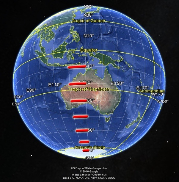 If the earth is flat is there a map that accurately reflects the now compare that to the flat earth map where latitude lines become longer the farther out they go shown in red which makes australia ridiculously gumiabroncs Choice Image