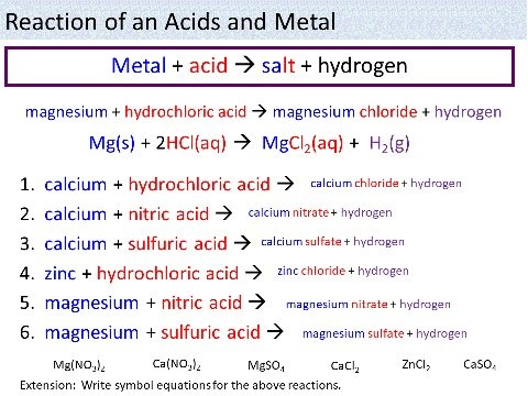 What Happens When A Metal Reacts With Acids Quora