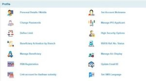 how to change profile password in sbi online banking