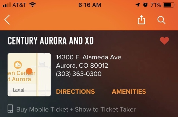 Why did the Aurora, CO Century 16 movie theater get renamed