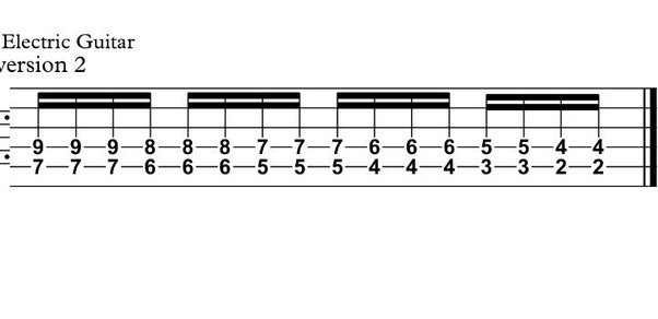 What Is The Best Way Of Converting Piano Sheet To Guitar Tab Quora