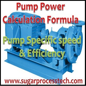 How to calculate flow rate of pump from rated power and rpm