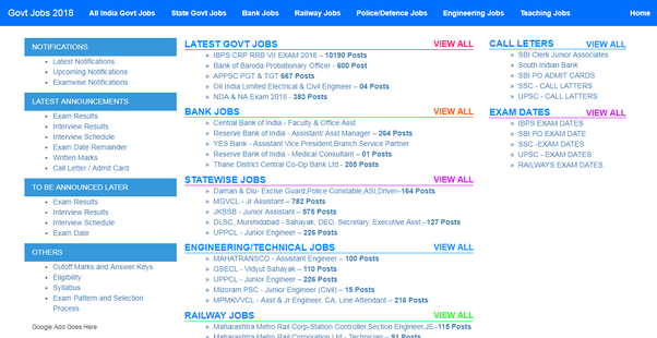 Which One Is The Best Website For Checking Government Job