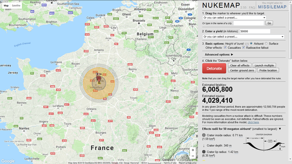 is it true that russias satan 2 nuclear missile can wipe out a country the size of france in one hit quora