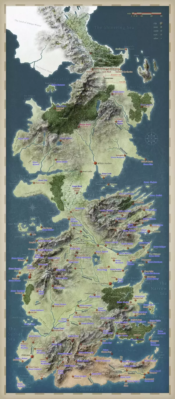 What is the best game of thrones world map i can use to follow what but since westeros map didnt have house names in it i edited this map to following gumiabroncs Images