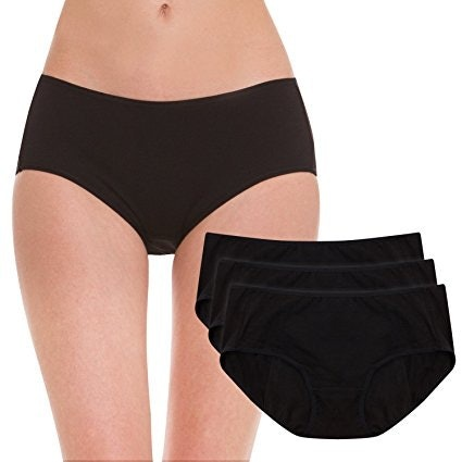 102bc9770aff Made from 100 percent organic cotton, these protective panties are cut so  that they provide full coverage, both in the back and front.