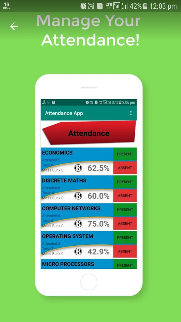 Are there any Android apps to manage my college attendance