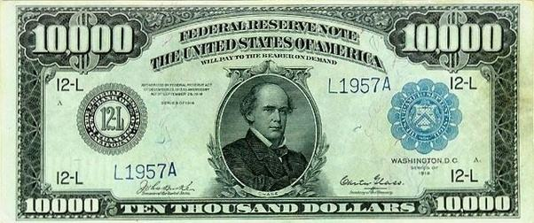 New 10000 Dollar Bill How thick is 10,000 do...