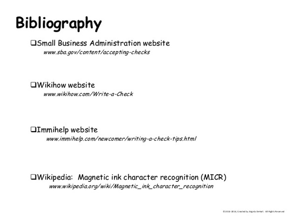 annonated bibliography