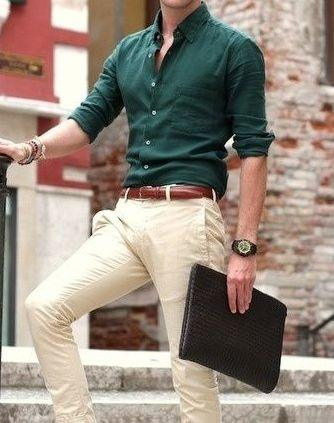 Which Colour Of Pants Match With A Green Shirt? - Quora