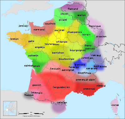 Which french regional accent do the french think sounds the most first of this is a map of france with its regional dialects mainly breton orangish yellow in the north west basque grey in south west gumiabroncs Gallery