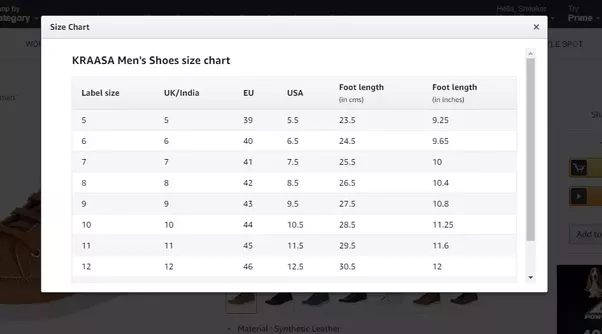 Here You Will Get Everything Need To The Right Size Usually Uk And Indian Shoes Have Same Because Of Our History