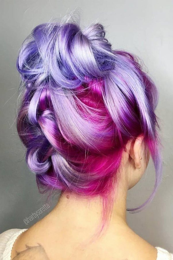 How to dye my hair purple from Black hair - Quora