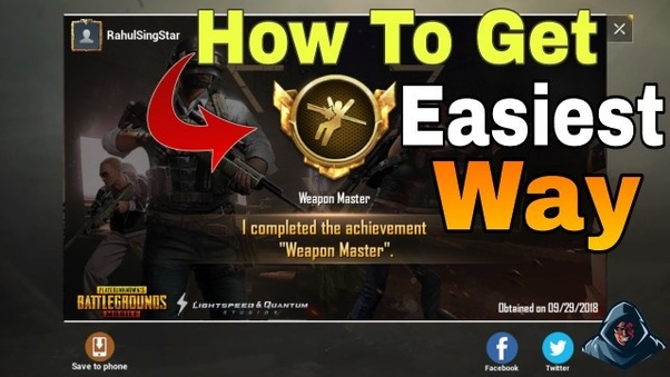 How to get a weapon master title in PUBG mobile - Quora