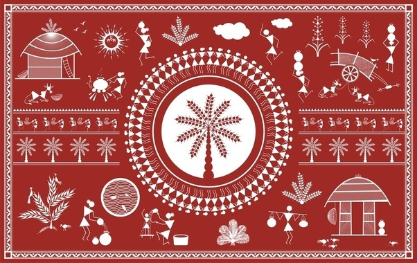 What is warli painting quora warli painting warli art basic drawing form jk arts 546 thecheapjerseys Image collections