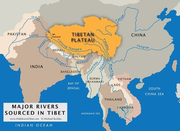 What is the strategic significance of the tibetan plateau to china china has started using it as a weapon a deadly and a lethal weapon in tibet china is in control of waters flowing into indian subcontinent and south east publicscrutiny Images