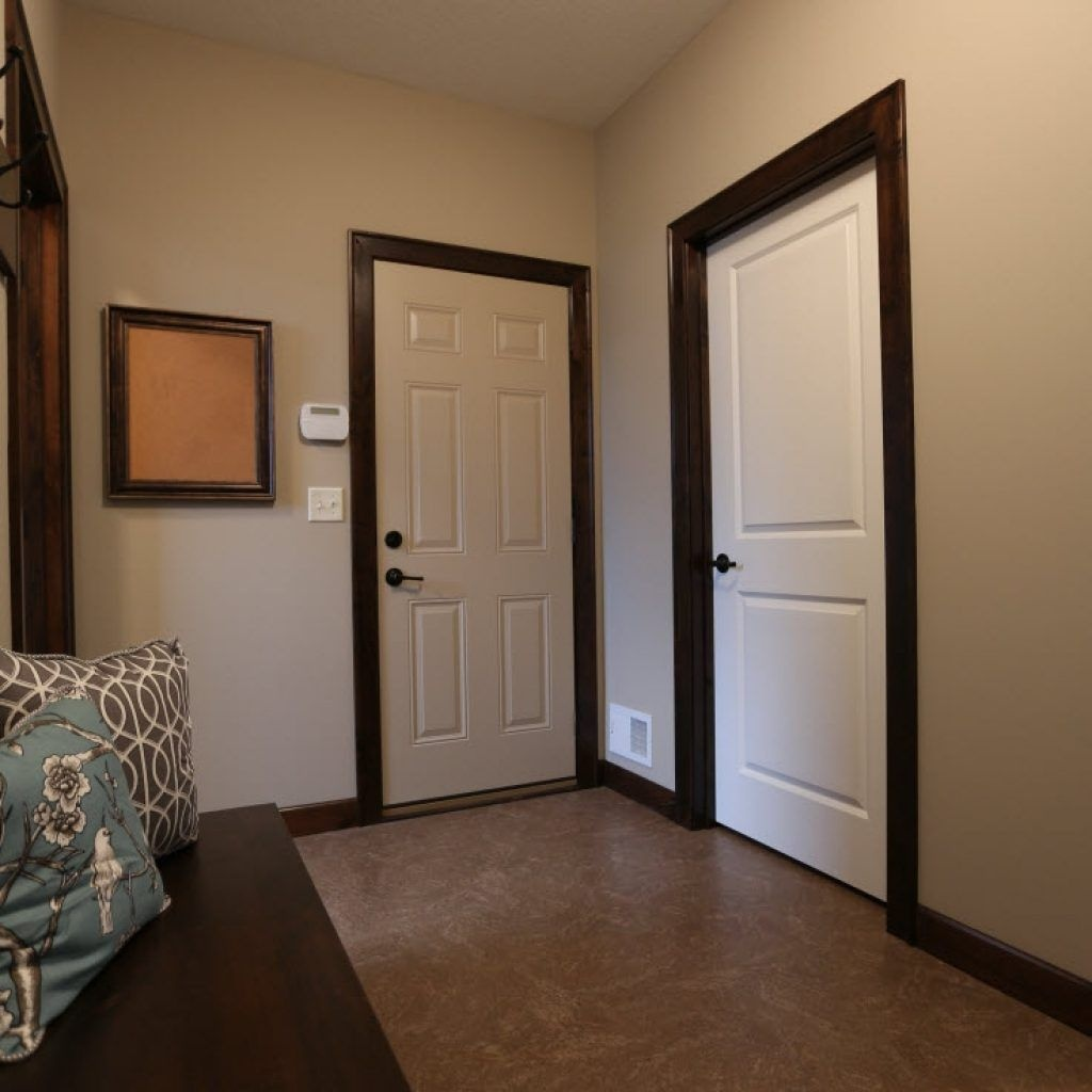White Interior Doors With Wood Trim Perfectly Match Any Texture So You Can Create A Truly Universal And Win Combination In Your