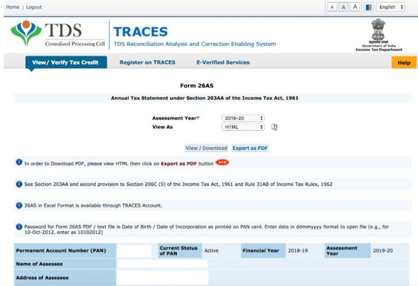 how to download tds certificate from traces website