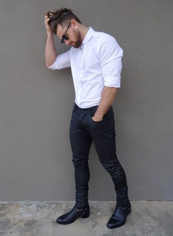 Does A White Shirt And Black Pants Match? - Quora
