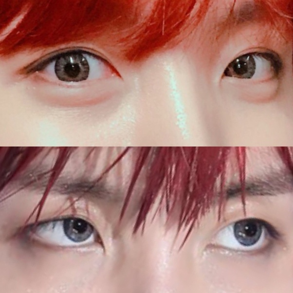 Does Suga and Taehyung have one single eyelid and one ...